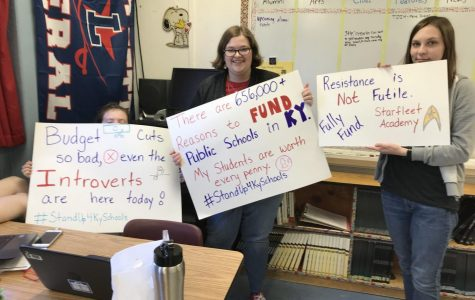 Teachers Protest the Budget Plan