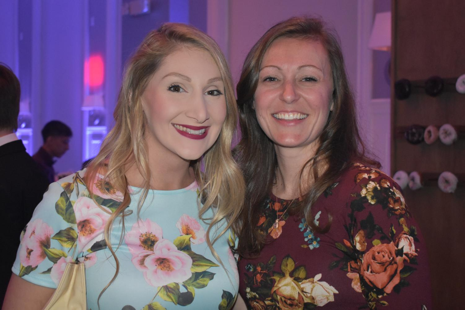 Ms. Schwab and Ms. Sumner enjoy prom 2018