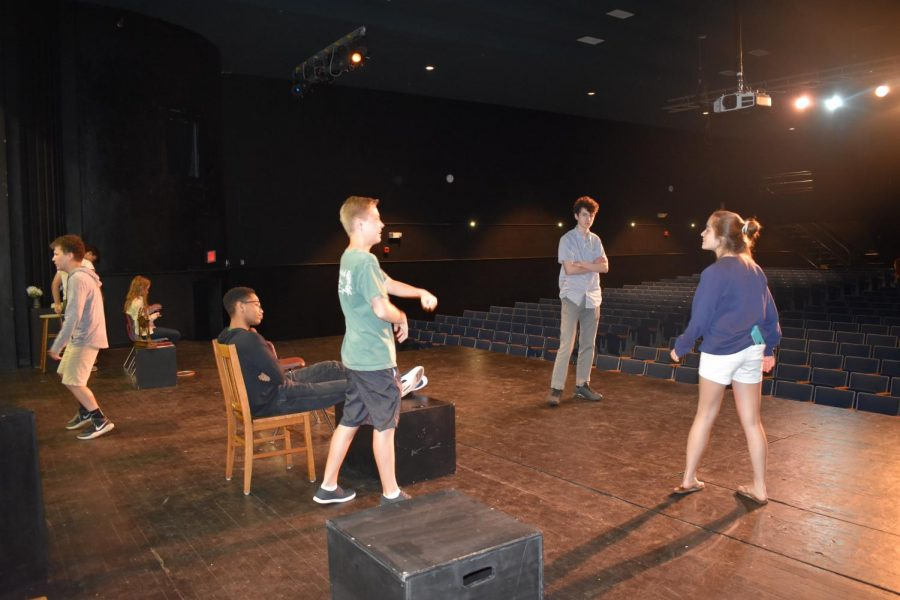 Drama Students Practice for their Final