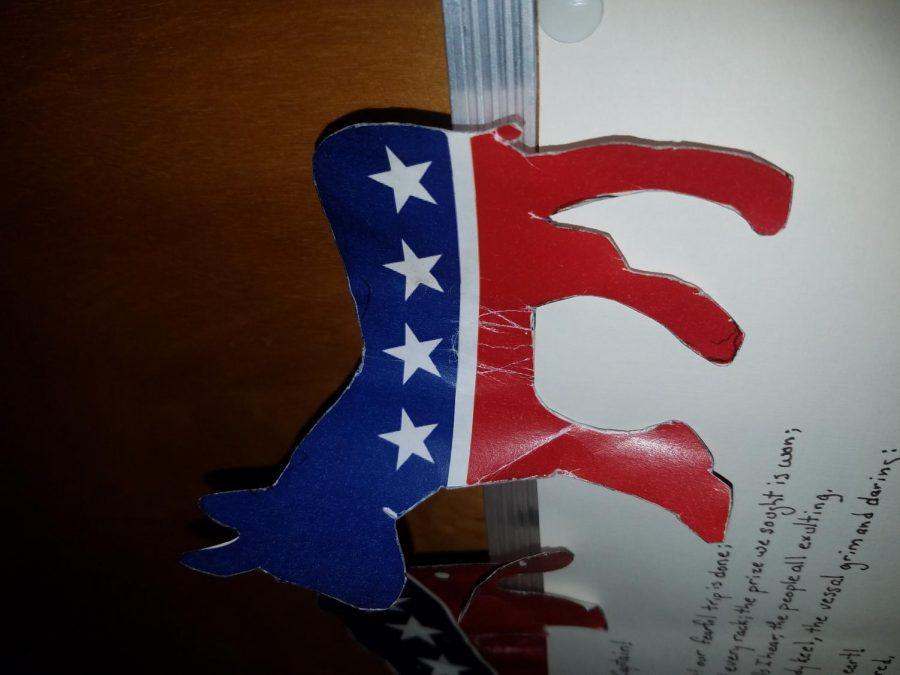 Democratic Mascot posted on Mr. Burba's door