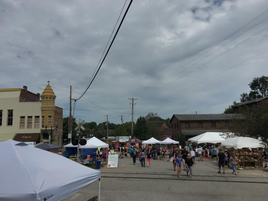 A shot of the Midway Fall Festival.