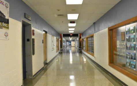 Empty hall at Lafayette