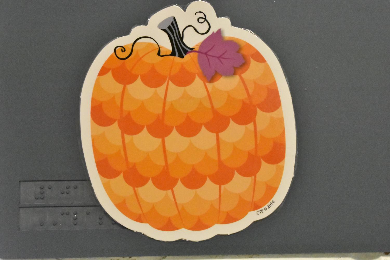 A cute pumpkin decoration