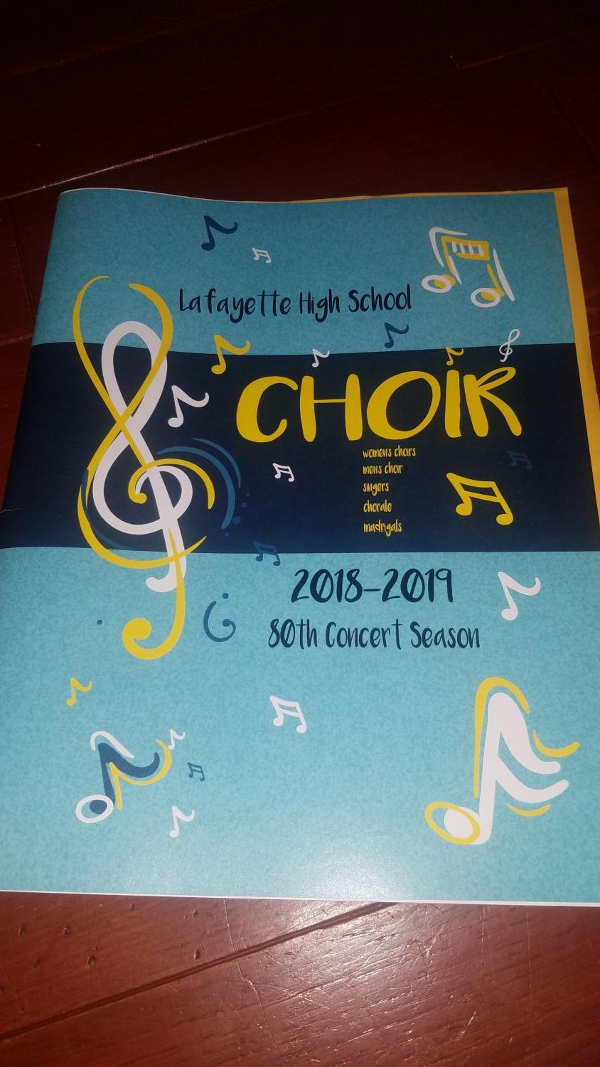 Lafayette's 2018-2019 choir program
