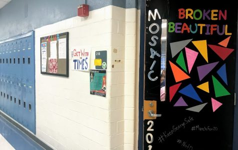 Teachers decorated their doors for the POTB.