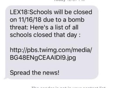Screenshot of the message that was received by many.