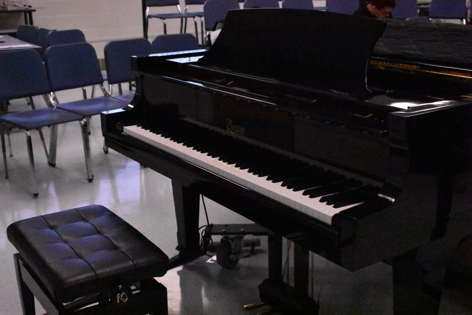 Grand piano in Lafayette's choir room