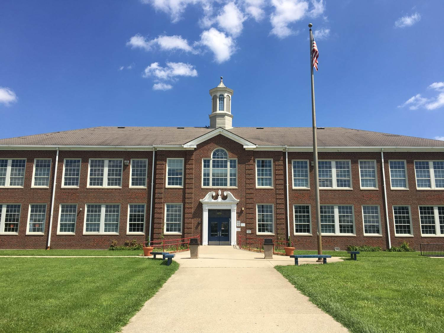 The front of the school is often the first place these incoming freshman see of the school.
