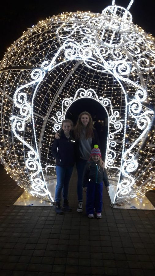 Kylie Willis and family at the  Kentucky Horse Park's Southern Lights event.
