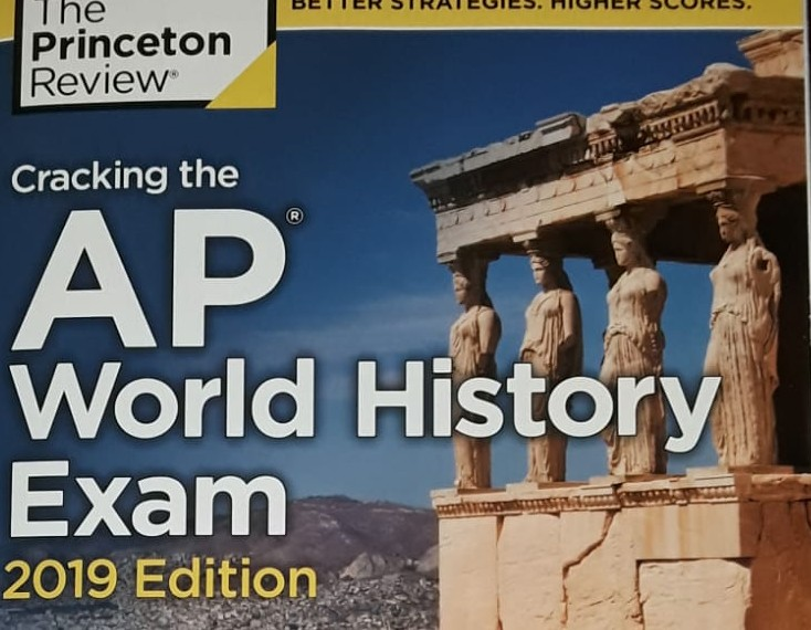 AP World History final exam review book.