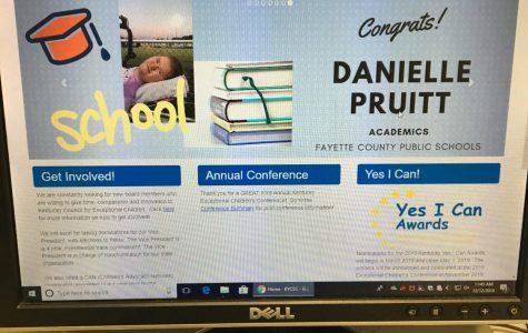 "Lafayette Freshman wins ""Yes I Can"" award"