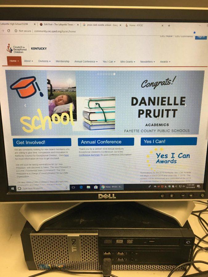 "EOY : Lafayette Freshman wins ""Yes I Can"" award"
