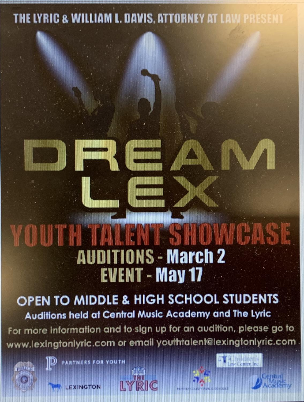 Dream Lex poster at www.lexingtonlyric.com