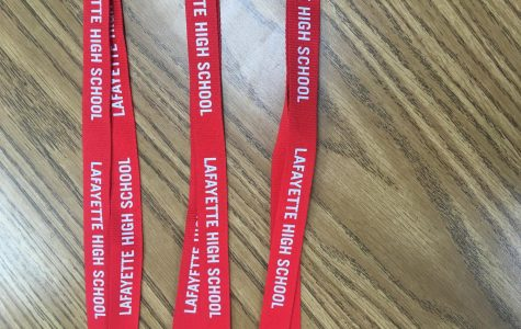 Student ID Badges  with lanyard shown