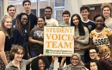 The student voice team including Ben Weathers in the top middle.