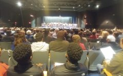 The Lafayette Concert Band on stage