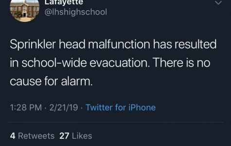 A tweet sent out during the flood