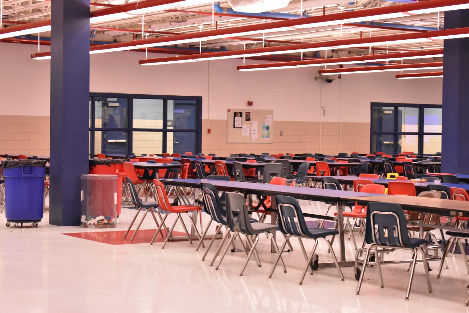 Cafeteria, where the staff works.
