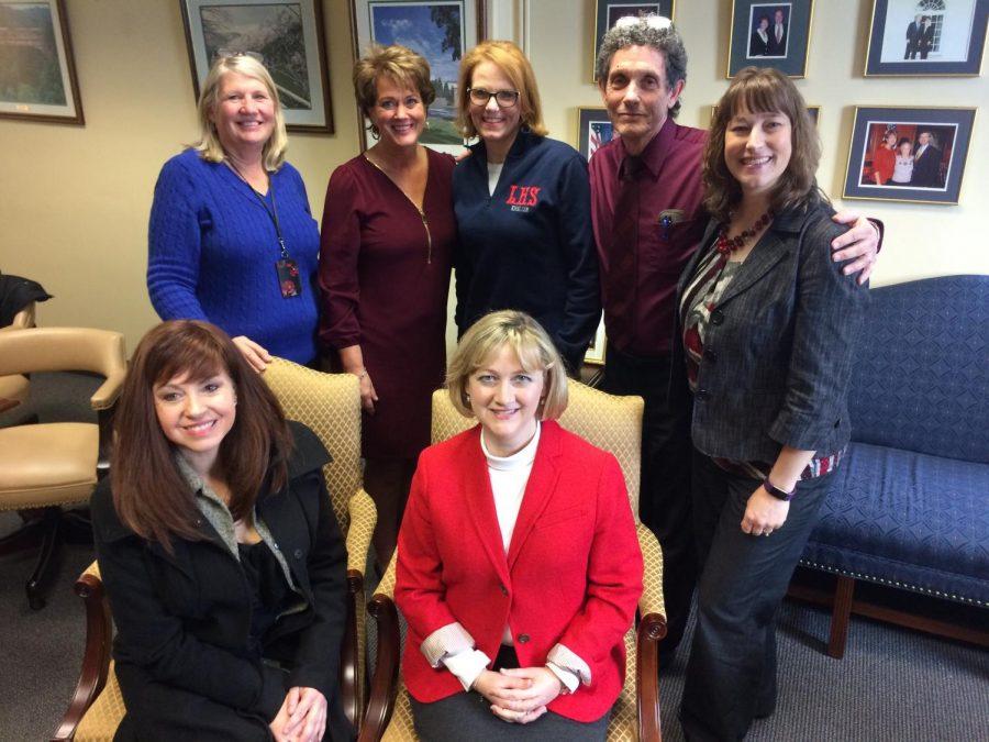 Rhonda Mullins, Senator Kerr, Joanne Trammell, David Bates, Sherri McPherson, Stephanie McDermott, and Susie Jolliffe