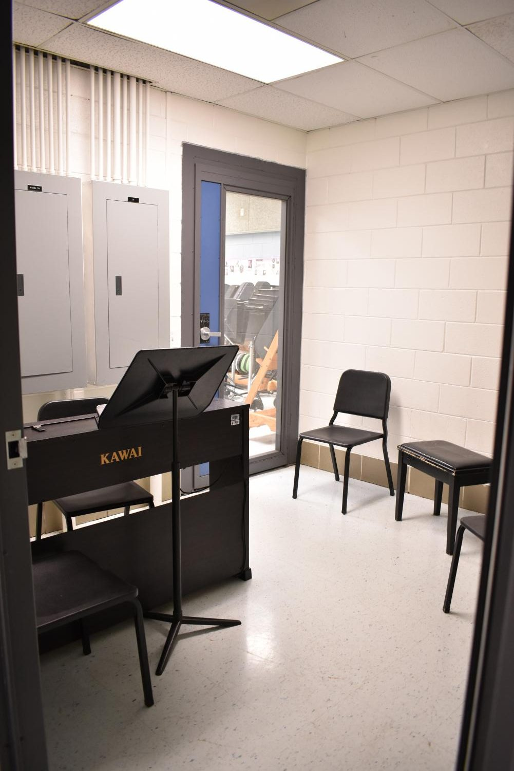 Where M2 lessons take place, The practice room.