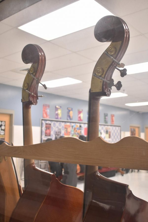 Basses from the Orchestra room.