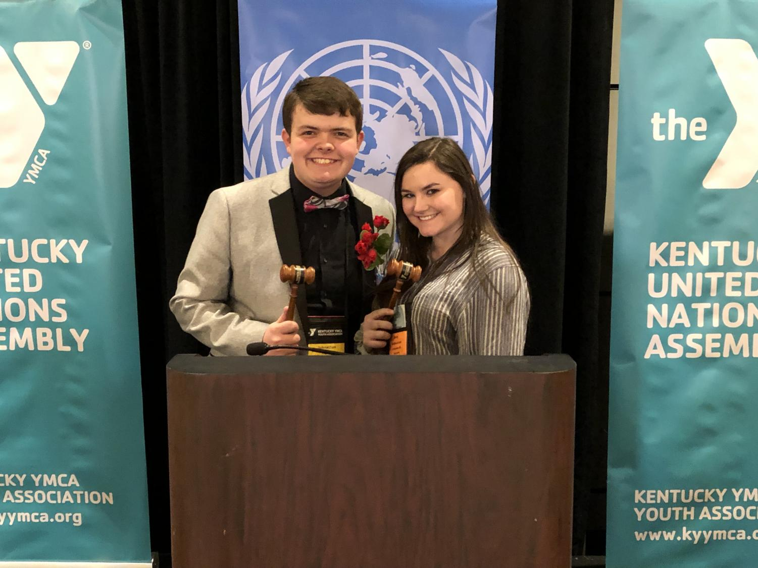 Johnathan Hurley, Deputy Secretary General for KUNA 2020 Abby Rasmussen, President of International Court of Justice