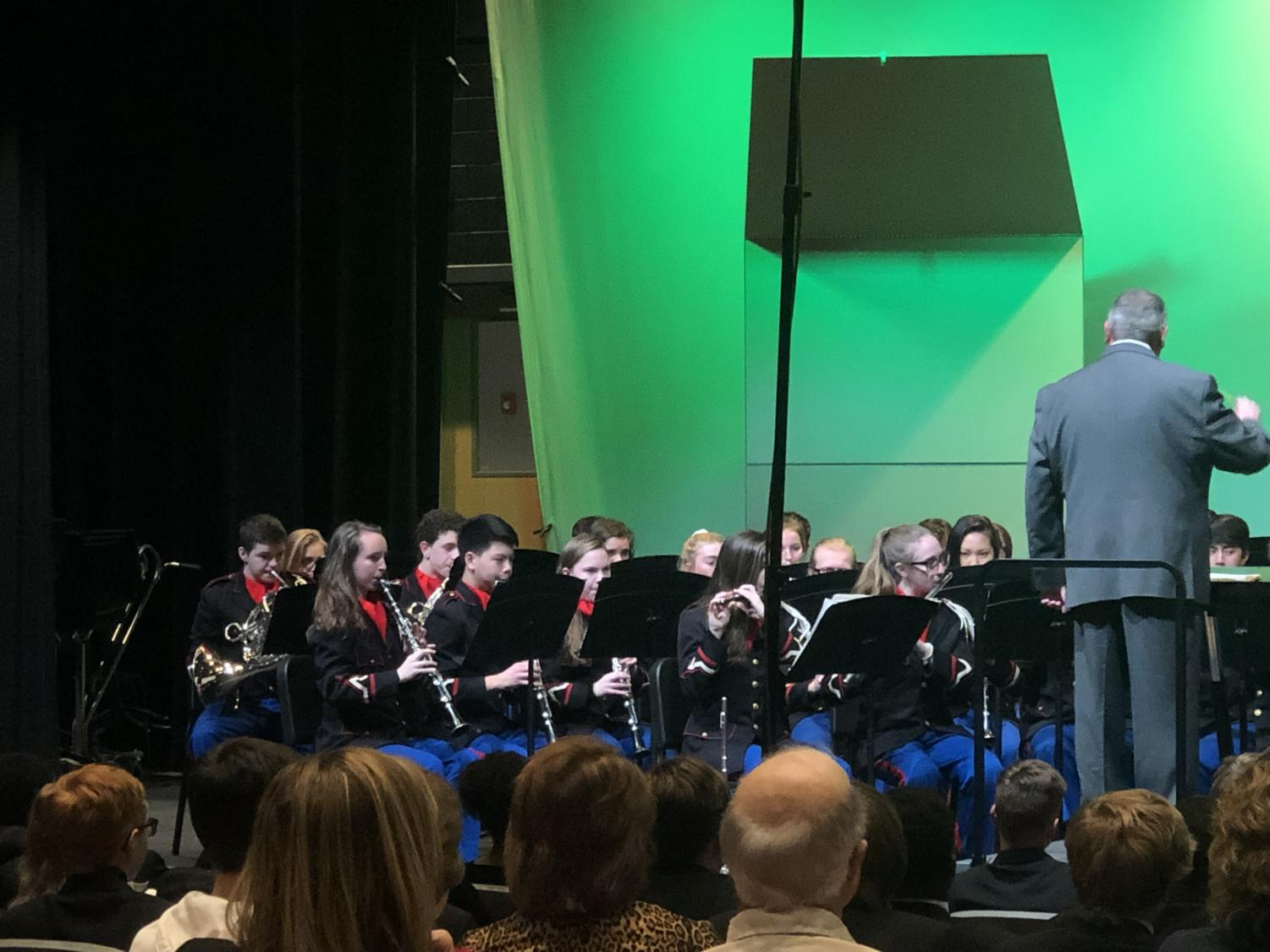 The Lafayette Wind Symphony performing at KMEA Assessment.