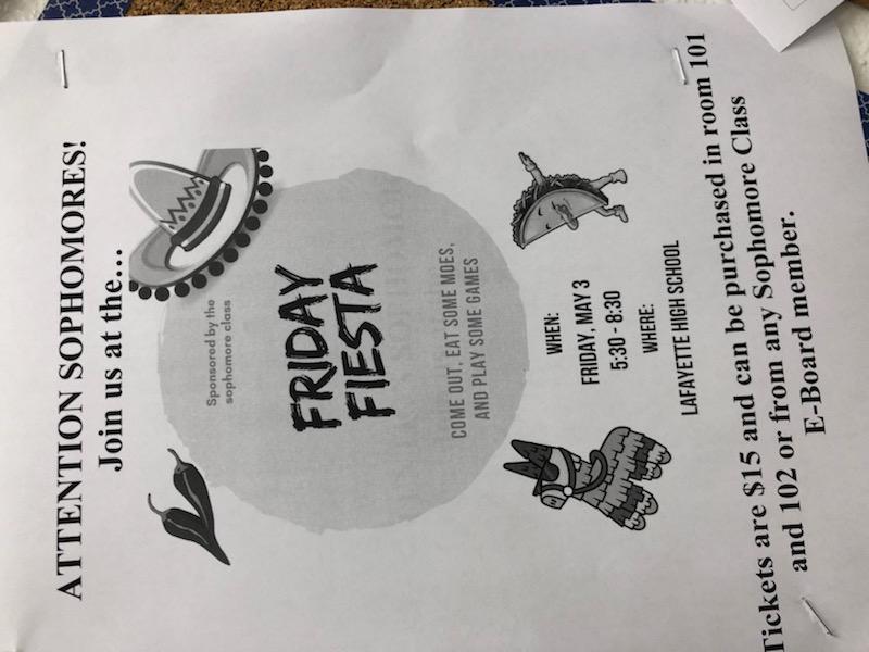 Sophomore Fiesta Announcement