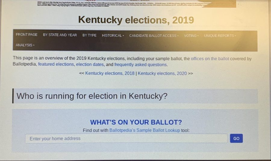 The 2019 Kentucky elections website.