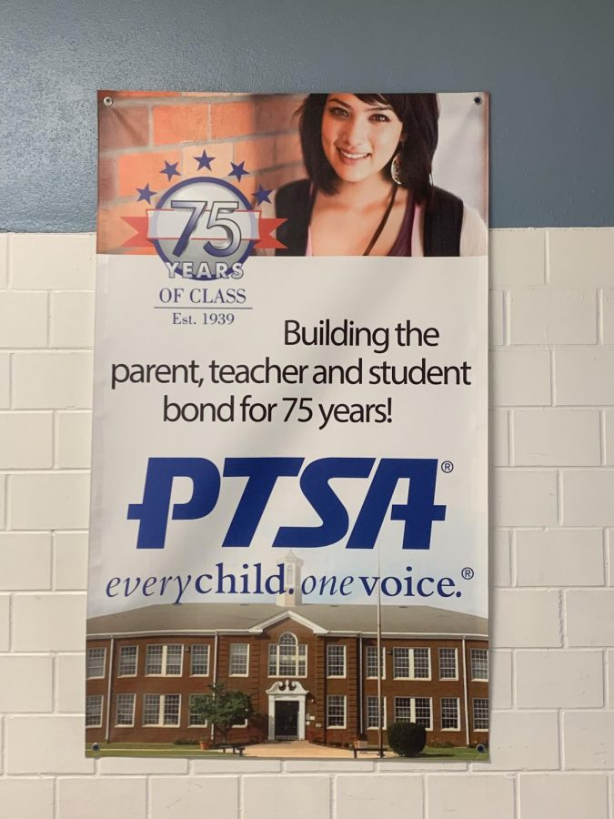 Lafayette+PTSA+poster+in+the+hallway.