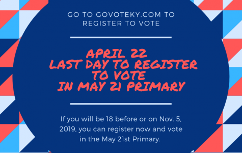 April 22 last day to Register to Vote in May Primary