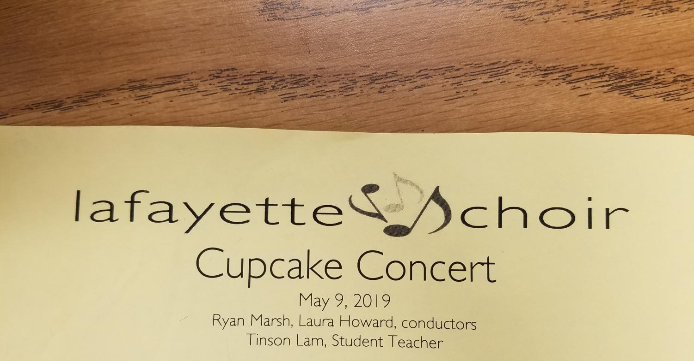 Cupcake Concert program