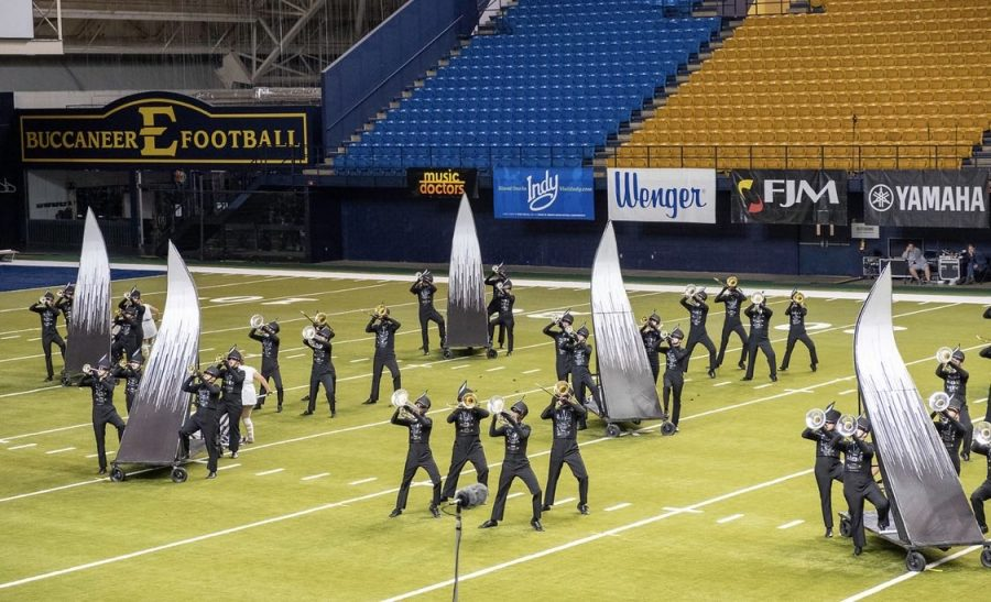 Band Preforming at Bands of America East Tennessee Regional competition on October 12, 2019.