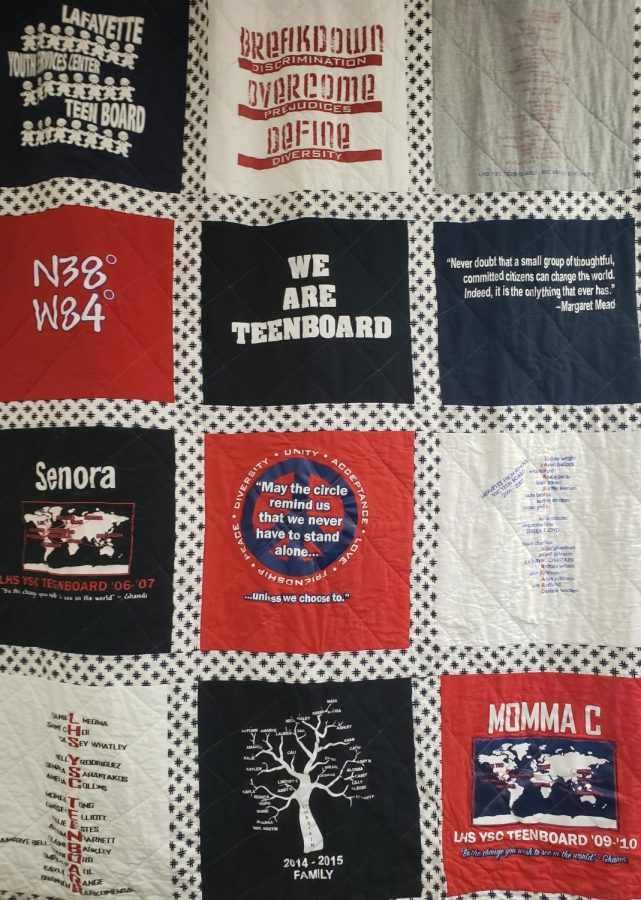 Picture+of+the+Teenboard+Quilt+hanging+in+the+Youth+Services+Center.
