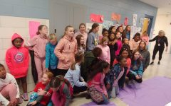 The Picadome-Lafayette Girls on the Run program students meet before the 11/23 5K.