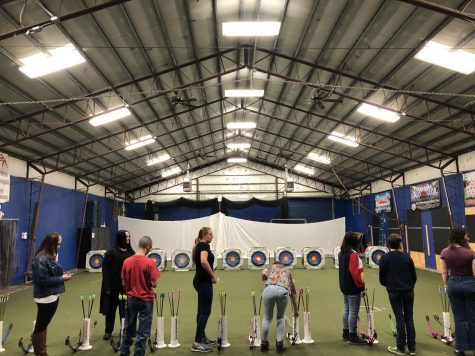 Archery practicing in the Green Building