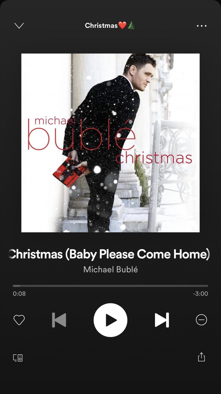 Christmas music on Spotify