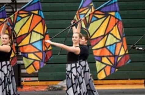 Lafayette Colorguard performing Mosaic  last year