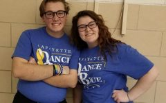 Two Lafayette students, Noah S. and Zaida B-F that participated in Dance Blue  in 2018.