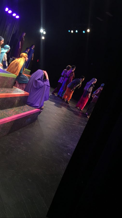The cast of Joseph and the Amazing Technicolor Dreamcoat performing, Jacob and Sons/Joseph's Dreams. People pictured: Luke Dailey, Brendan Naish, Nate Krohmer, Kieshaun Butts, Brady Ernst, Alyssa Mercurio, Bella Mancuso, Rose McClanahan, Izzy Mullins, Vivien Kurtz, Kori Silence and Mallory Crouch.