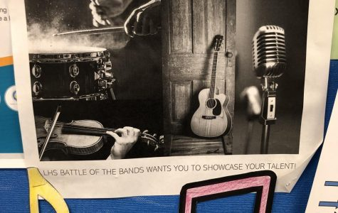 A battle of the bands advertisement poster.