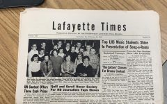 A paper copy of Lafayette's newspaper from the 1950s