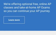 The cover for the AP college board website