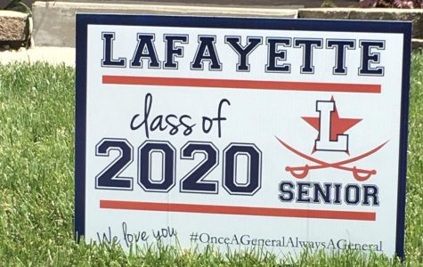 Lafayette High School class of 2020 Senior sign.