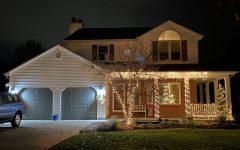 LEXINGTON, KY:  A house covered in Christmas lights awaits the holiday season.