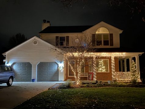 LEXINGTON, KY:  A house covered in Christmas lights awaits the holiday season.
