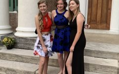 Students love photoshoots when they're all fancied up for homecoming. Will they be able to do it again this year?  Pictured, Brynn D (left) with her two sophomore friends, freshman at the time the photo was taken, Lexington, KY