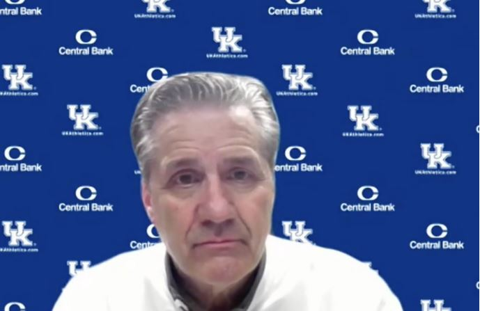Lexington%2C+KY.%3A+John+Calipari%2C+head+coach+for+the+University+of+Kentucky%27s+men%27s+basketball+team%2C+speaks+to+the+media+after+the+game.