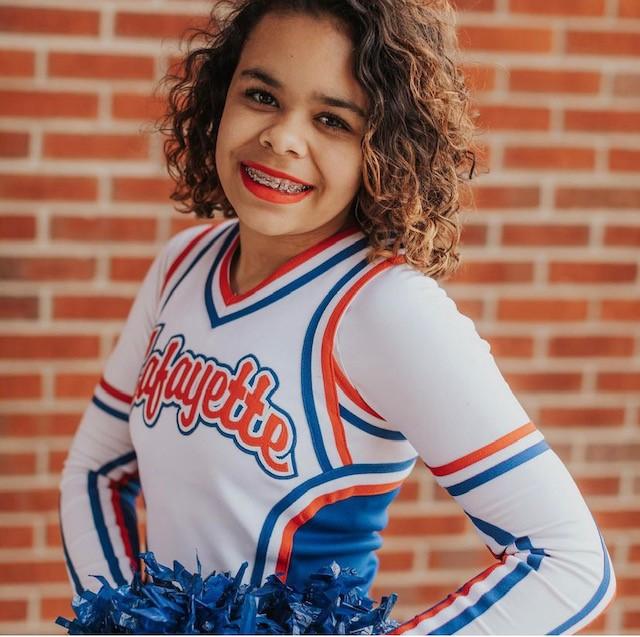 Lexington, KY: Destiny Davison, student cheerleader at Lafayette High School