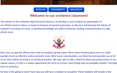When orchestra students log into their class for the day, this is the homepage they see. It portrays convenient shortcuts, including to the live calls (not shown here)